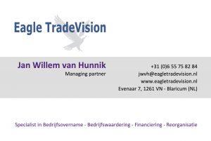 Businesscard Jan Willem van Hunnik